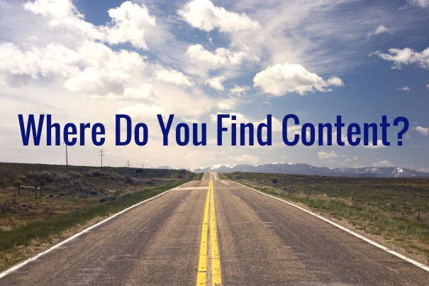 Where do you find content?