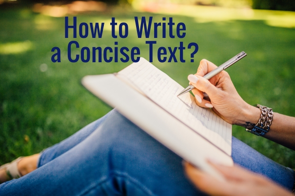 How to write a concise text?