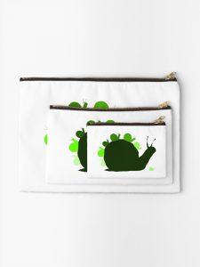 Snails zipper pouch