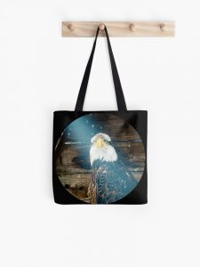 The Eagle has landed tote bag