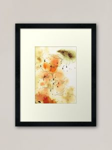 art print of flowers