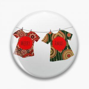 Merry Xmas T-shirt pin by Susan Wilander