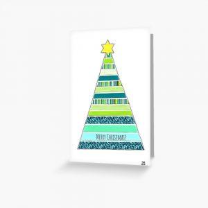 Merry Christmas tree greeting card by Susan Wilander