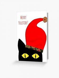 Merry Yuletide greeting card by Susan Wilander